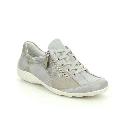 Remonte Comfort Lacing Shoes - Light Grey - R3405-90 LIVZIPA 01