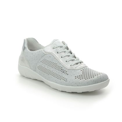 Remonte Comfort Lacing Shoes - White-silver - R3503-80 LOVACE