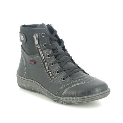 Remonte Lace Up Boots - Black leather - D3874-01 LUVLACETA 05