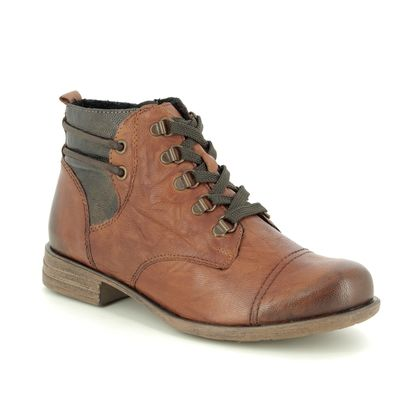 Remonte Boots - Ankle - Tan Leather - R0974-22 MUSKLACE