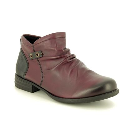 Remonte Boots - Ankle - Wine leather - R0972-35 MUSKRU
