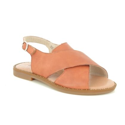 Remonte Flat Sandals - Tan Leather - D3650-24 ODESS