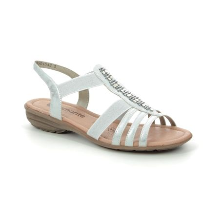 Remonte Comfortable Sandals - White silver - R3660-90 ODET