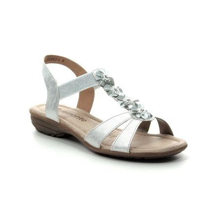 Remonte Comfortable Sandals - White silver - R3633-90 ODLEAF