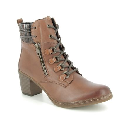 Remonte Ankle Boots - Tan Leather  - R4673-22 PONCHON