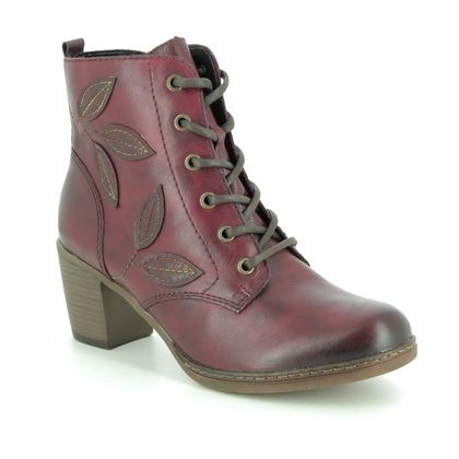 Remonte Boots - Ankle - Wine leather - R4670-35 PONLEAF