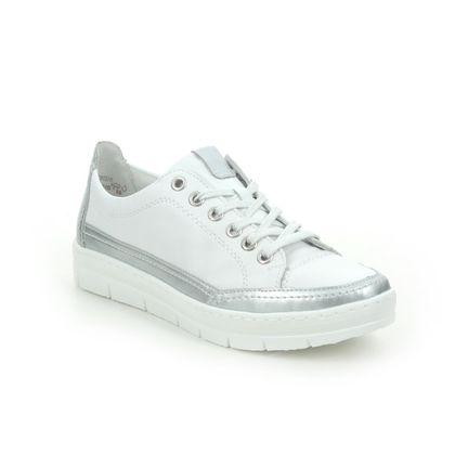 Remonte Comfort Lacing Shoes - White-silver - D5822-80 RAVENULET