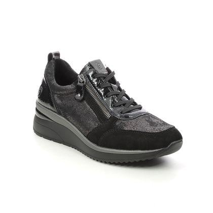 Remonte Trainers - Black suede - D2401-02 REA    ZIP