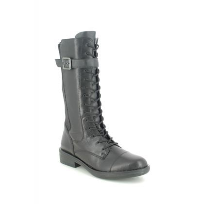 Remonte Mid Calf Boots - Black leather - R4982-01 ROXANMID