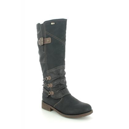 Remonte Knee High Boots - Black - D8078-01 SANDROS TEX