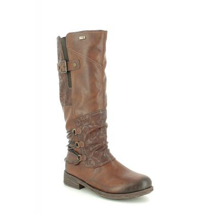 Remonte Knee High Boots - Brown - D8078-25 SANDROS TEX