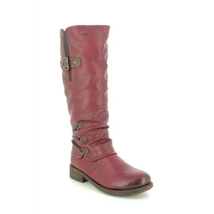 Remonte Knee High Boots - Wine - D8078-35 SANDROS TEX