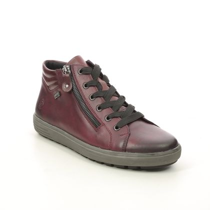 Remonte Lace Up Boots - Wine leather - D4471-36 SITABU TEX