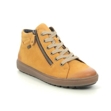 Remonte Lace Up Boots - Yellow Nubuck - D4471-68 SITABU TEX