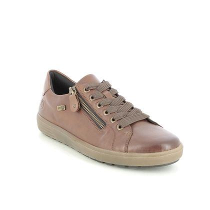 Remonte Comfort Lacing Shoes - Tan Leather - D4400-24 SITANES TEX