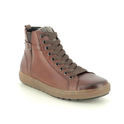Remonte Lace Up Boots - Tan Leather - D4474-22 SITASTRA