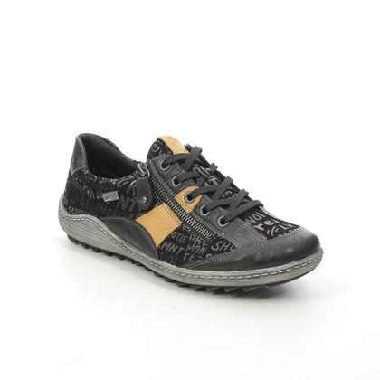 Remonte Comfort Lacing Shoes - Black - R1424-02 ZIGLETTER