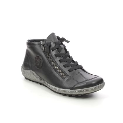 Remonte Lace Up Boots - Black leather - R1498-01 ZIGNOTE