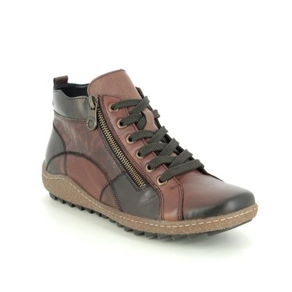 Remonte Lace Up Boots - Tan Leather - R4790-23 ZIGSEIPATCH