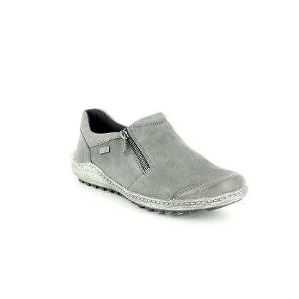 Remonte Comfort Slip On Shoes - Grey - R1403-45 ZIGSHU TEX
