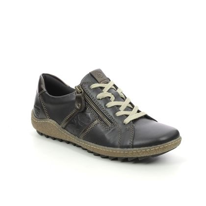 Remonte Comfort Lacing Shoes - Black leather - R4706-01 ZIGSPO TEX 15