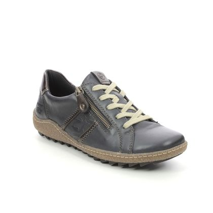 Remonte Comfort Lacing Shoes - Navy Leather - R4706-14 ZIGSPO TEX 15