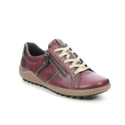 Remonte Comfort Lacing Shoes - Wine leather - R4706-35 ZIGSPO TEX 15