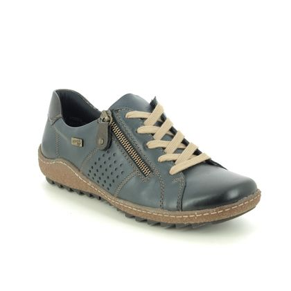 Remonte Comfort Lacing Shoes - Navy Leather - R4717-14 ZIGSPO TEX