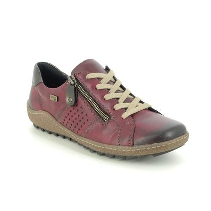 Remonte Comfort Lacing Shoes - Wine leather - R4717-35 ZIGSPO TEX