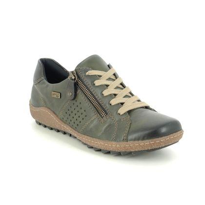 Remonte Comfort Lacing Shoes - Green - R4717-54 ZIGSPO TEX