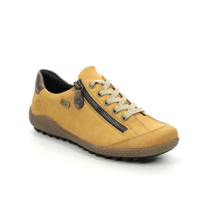 Remonte Comfort Lacing Shoes - Yellow - R1402-69 ZIGZIP 85 TEX