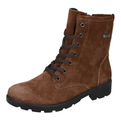 Ricosta Girls Boots - Brown Suede - 72202/282 DISERA LACE TEX