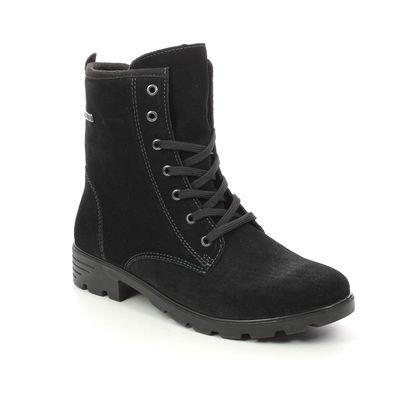 Ricosta Girls Boots - Black suede - 7220200/092 DISERA LACE TEX