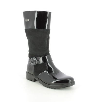 Ricosta Girls Boots - Black patent suede - 7223300/094 HANNAH TEX 15