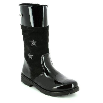 Ricosta Girls Boots - Black patent - 72234/093 HANNAH TEX 72