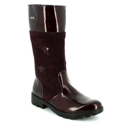Ricosta Girls Boots - Wine patent - 72234/383 HANNAH TEX 72