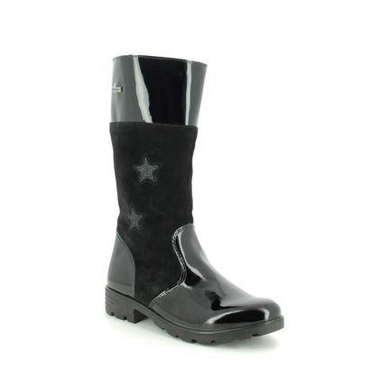 Ricosta Girls Boots - Black patent - 7223400/094 HANNAH TEX 85