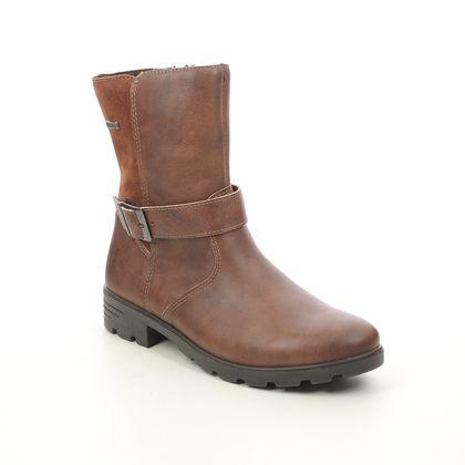 Ricosta Girls Boots - Tan Leather  - 7227200/264 RANKA  TEX