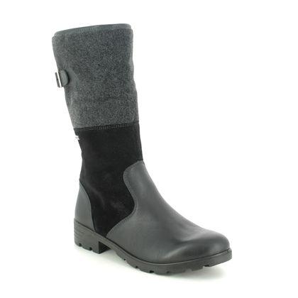 Ricosta Girls Boots - Black leather - 72271/92 ROXANNE TEX