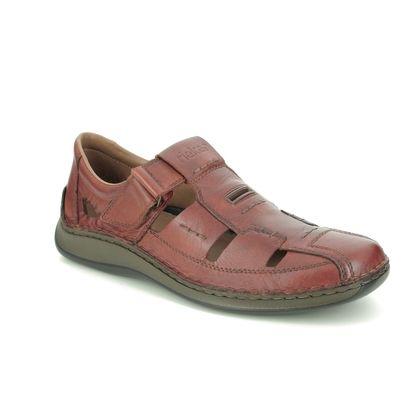 Rieker Sandals - Tan Leather  - 05284-24 STEFAS