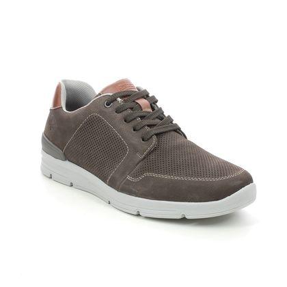 Rieker Casual Shoes - Brown nubuck - 16406-25 DELSOPERF