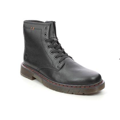 Rieker Boots - Black leather - 32601-01 DOCBURMA