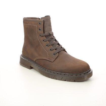 Rieker Boots - Brown leather - 32601-22 DOCBURMA