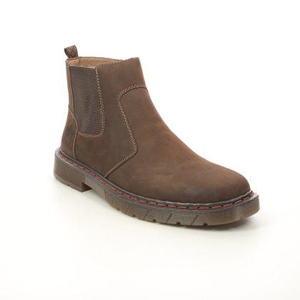 Rieker Chelsea Boots - Brown leather - 32650-23 DOCBURCHEL
