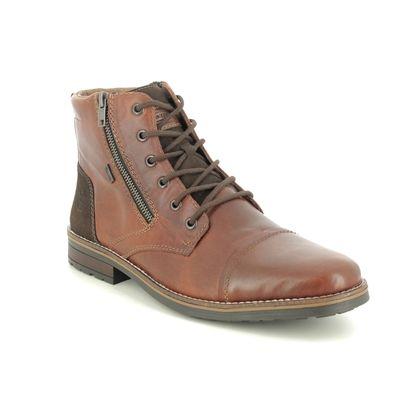 Rieker Boots - Tan Leather  - 33200-24 BRAIN TEX