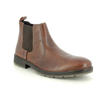 Rieker Chelsea Boots - Tan Leather  - 33353-25 ROUSE