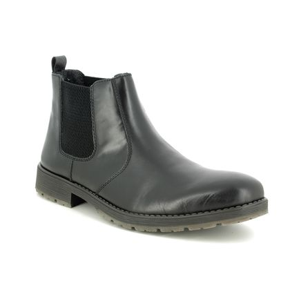 Rieker Chelsea Boots - Black leather - 33354-00 ROUSED