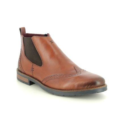 Rieker Chelsea Boots - Tan Leather - 34660-24 ADAMCHEL