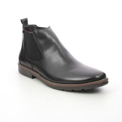 Rieker Chelsea Boots - Black leather - 35382-00 RANDON TEX