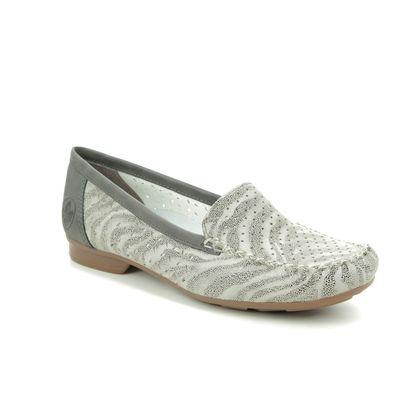 Rieker Loafers and Moccasins - Zebra print - 40086-42 CALI